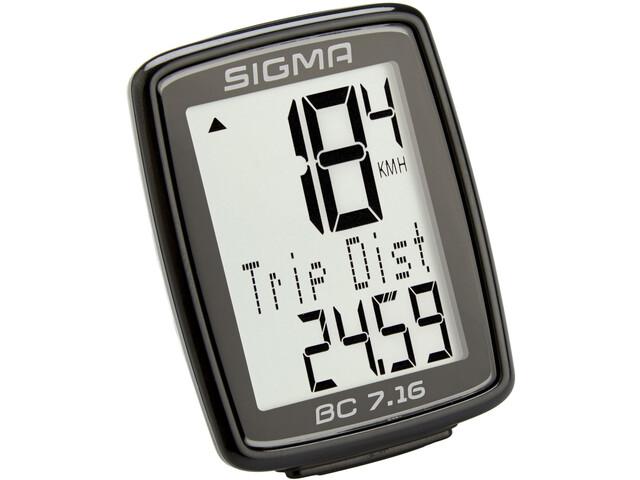 SIGMA SPORT BC 7.16 Compteur de vélo connecté par cable